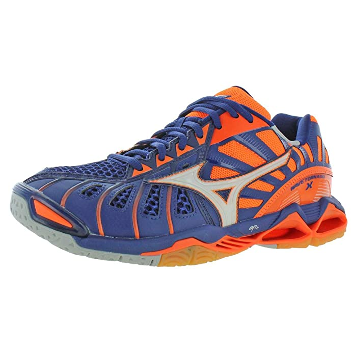 Mizuno Mens Wave Tornado X Lace-Up Low-Top Volleyball Shoes Orange 9 Medium (D)