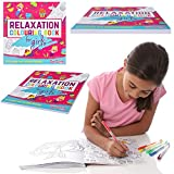GirlZone GIFTS FOR GIRLS: Relaxation Colouring Book For Kids, 114 Beautiful Designs. Ideal For Colouring, Drawing, Painting & Getting Creative. Great Birthday Gift, Present For Girls Age 6 7 8 9 10 11 + Years Old.