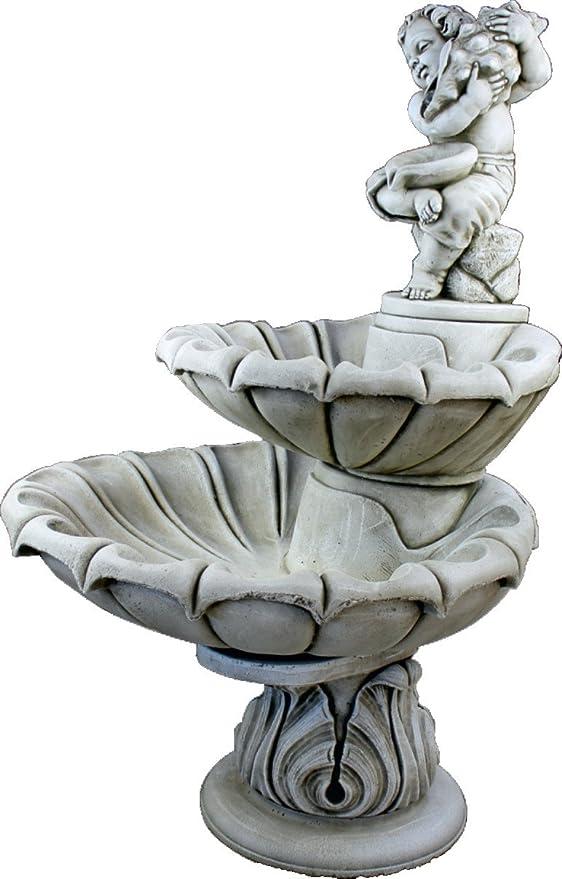 DEGARDEN Fuente de Pared Palermo hormigón-Piedra Exterior jardín 134cm.: Amazon.es: Jardín