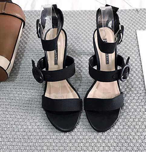 Scarpe 2 Dimensioni 34 Colore Tallone Sandali Elastico con estive Cinturino sul Comodi rPvwrqz