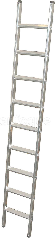 Escalera industrial de aluminio apoyo fija 9 peldaños anchos serie peak: Amazon.es: Hogar