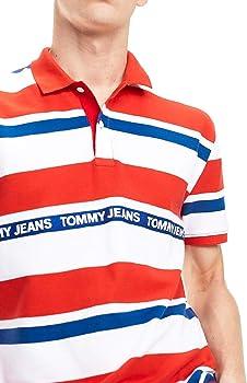 Tommy Jeans Polo Multi Stripe Rojo Hombre S Rojo: Amazon.es: Ropa ...