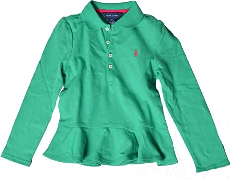 Polo Ralph Lauren - Camiseta de Manga Larga - para niña Verde Verde 5 años: Amazon.es: Ropa y accesorios