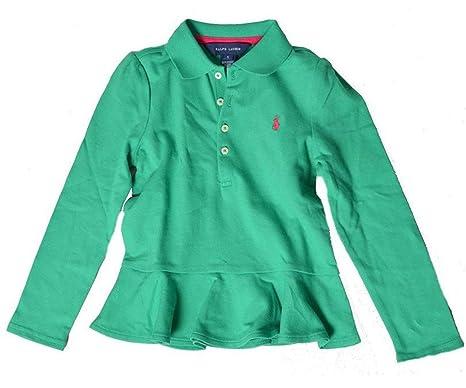 Polo Ralph Lauren - Camiseta de Manga Larga - para niña Verde ...