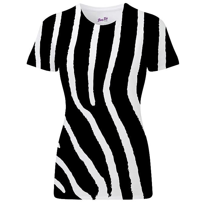 Bang Tidy Clothing Zebra Pattern All Over Print Womens T Shirt - X Large