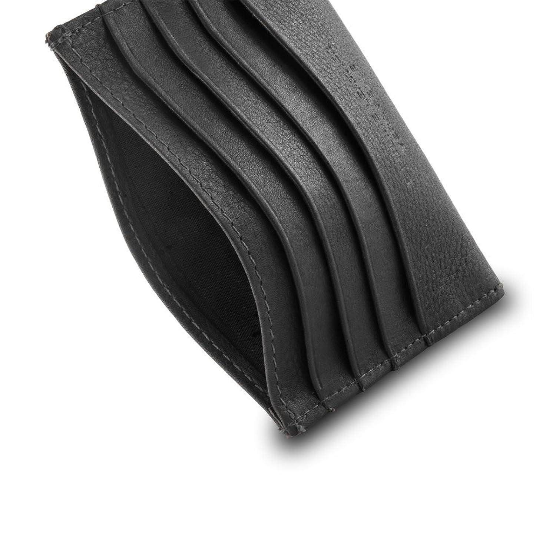 32ed5616e Tarjetero en piel Nappa con 8 bolsillos firmado DV Negro: Amazon.es:  Zapatos y complementos