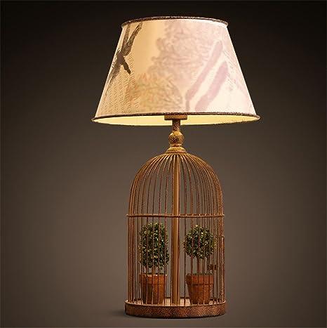 Lámparas de Escritorio Bird Cage Vintage Lámpara de Mesa de ...