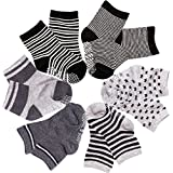SuPoo 6 Pairs Non Skid Baby Cotton Socks, Soft Anti-slip...