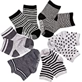 SuPoo 6 Pairs Non Skid Baby Socks, Soft Anti-Slip Socks Baby Toddlers Baby Boy Socks