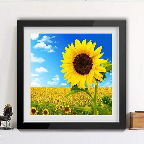 MLSJM DIY Art Craft Diamond Painting, 5D Sunflower Full Drill Cross Stitch Arts Canvas Painting Living Room Dormitorio Decoración de Pared Dibujo para Adultos Niño: Amazon.es: Deportes y aire libre