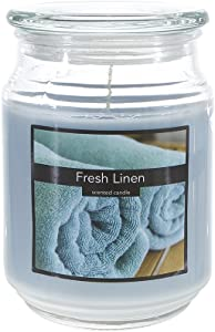 SRG Scented 18 Ounce Glass Jar Container Candle - Fresh Linen