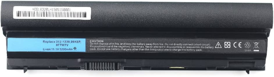 Bay Valley Parts New Laptop Battery Replacement for Dell Latitude E6120 E6220 E6230 E6320 E6320xfr E6330 E6430s Series, 312-1241 312-1242 11HYV J79X4 RFJMW 09K6P [Li-ion 11.1v 5200mah]