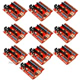 Partstower 10pcs Nano I/O Expansion Sensor Shield Module for Arduino UNO R3 Nano V3.0 IO Pro Compatible SCM DIY