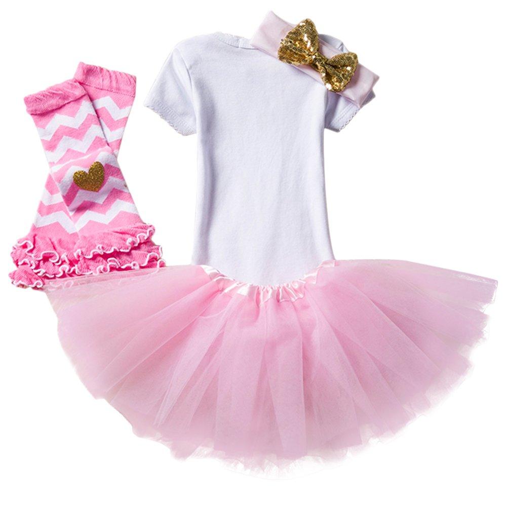 197e9291b IWEMEK Newborn Baby Infant Toddler Girls Its My 1st Fancy Dress 2nd Birthday  Cake Smash Shiny ...
