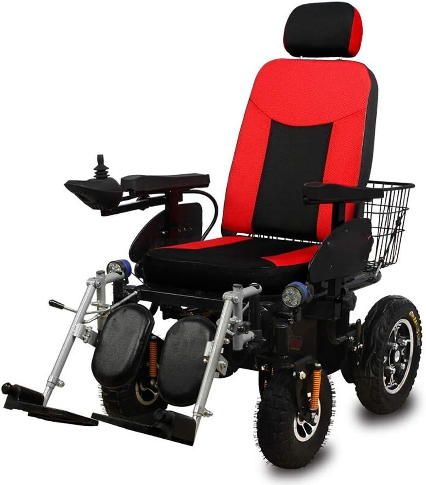 Silla de Ruedas eléctrica Ancianos Discapacitados Scooter Inodoro Inteligente Operación Todoterreno de Cuatro Ruedas con una Sola Mano
