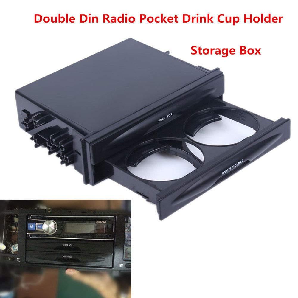 FidgetFidget -Cup Holder Storage Box Hot Car Truck Double Din Radio Pocket Drink