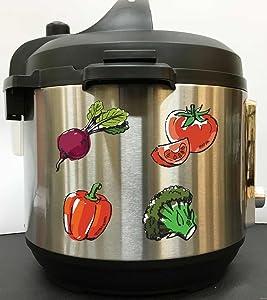 Watercolor Vegan Fresh Veggies - Full Color Vinyl Decal Sticker for Instant Pot Instapot Pressure Cooker