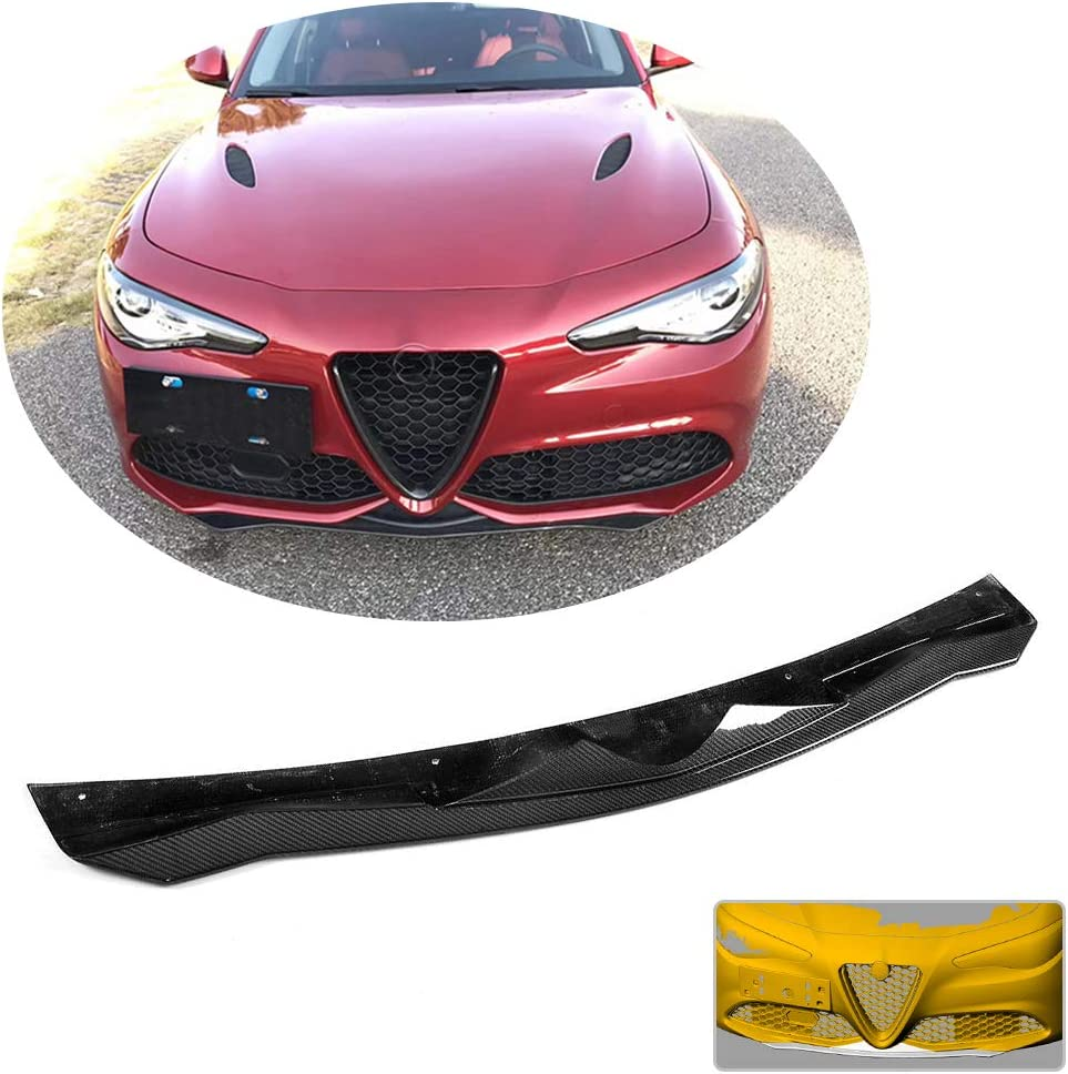 MCARCAR KIT Front Bumper Lip fits Alfa Romeo Giulia Base Sedan 2015-2018 Add-on Factory Outlet Carbon Fiber CF Chin Spoiler Splitter Protector