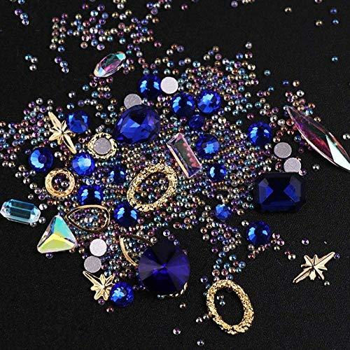 Nail Art Decoration Rhinestone Crystal Gem Tips Metal Acrylic Gel Accessories (Color - 3#)