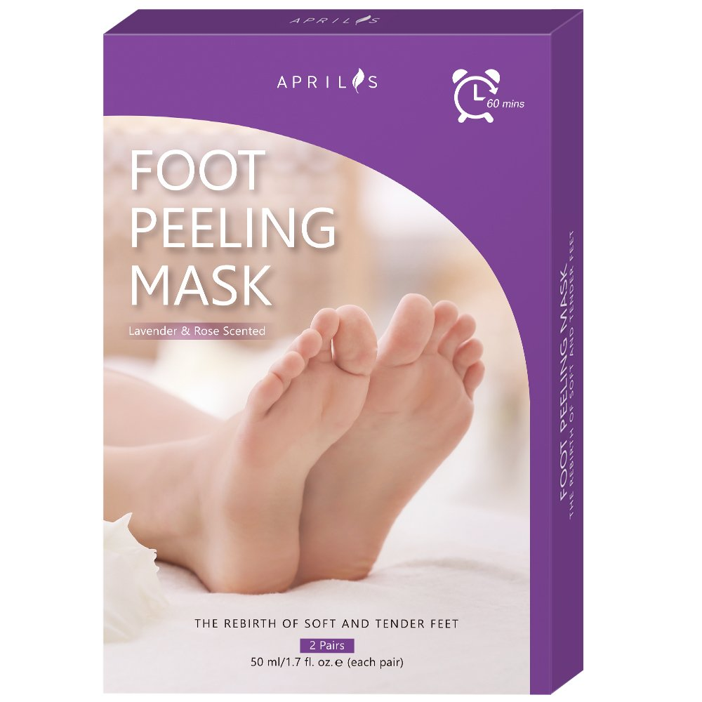 2-Pair Foot Peel Mask, Antifungal Foot Mask for Baby Soft Feet, XL Size Exfoliating Foot Peeling Mask & Dead Skin Remover, Complimentary Pair of Socks for Complete Treatment
