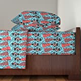 Roostery African 4pc Sheet Set African Ladies by Kociara Queen Sheet Set made with