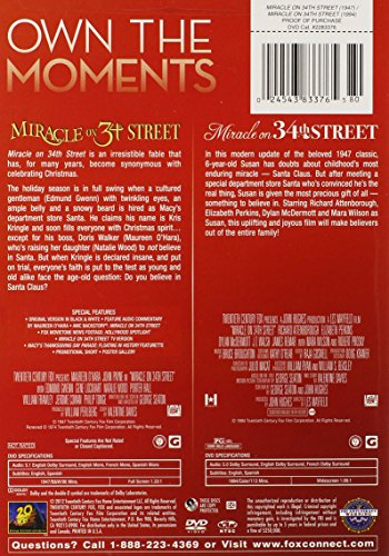 Miracle On 34th Street Double Feature 1947 1994 Buy