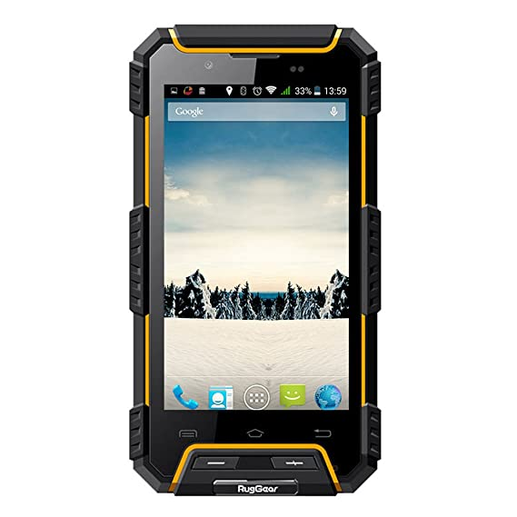 timeless design 4ded7 33f14 RugGear RG702 Rugged Cell Phone Unlocked IP68 Waterproof Smartphone (Yellow)