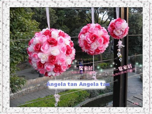 Price comparison product image Siam Circus 2 pieces / lBouquet door trim hangings crystal pendant beautiful hangings decoration for wedding Artificial Flower silk flower