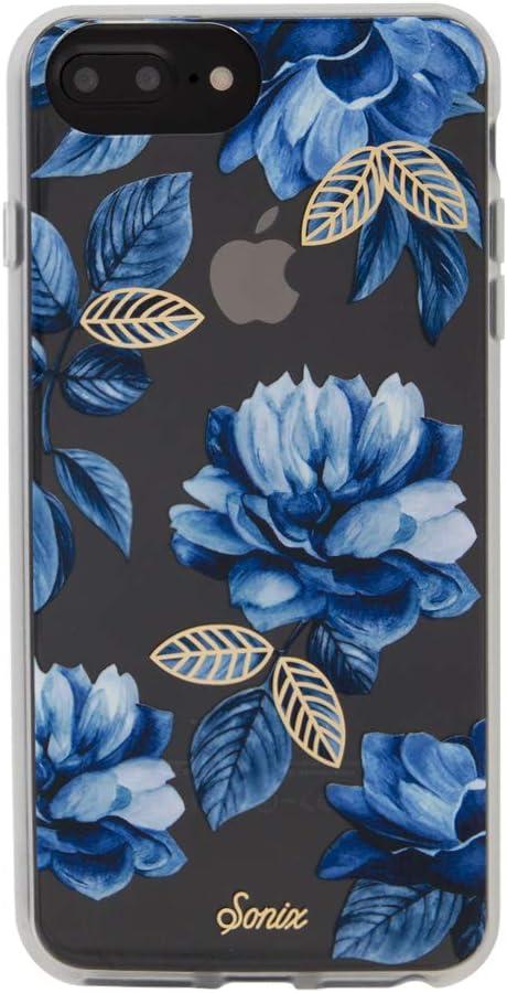 Sonix Indigo Flower Cell Phone Case [Military Drop Test Certified] Women's Protective Blue Floral Clear Case for Apple iPhone 6 Plus, 6s Plus, 7 Plus, 8 Plus