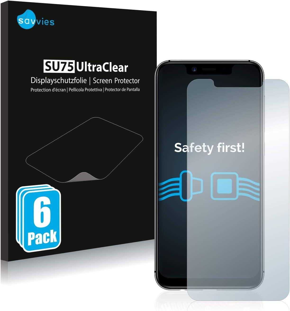 savvies Protector Pantalla Compatible con Umidigi A3 Pro (6 Unidades) Pelicula Ultra Transparente: Amazon.es: Electrónica