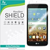 RinoGear for LG K7 / LG Tribute 5 Screen Protector [Active Protection] Flexible HD Invisible Clear Shield Anti-Bubble