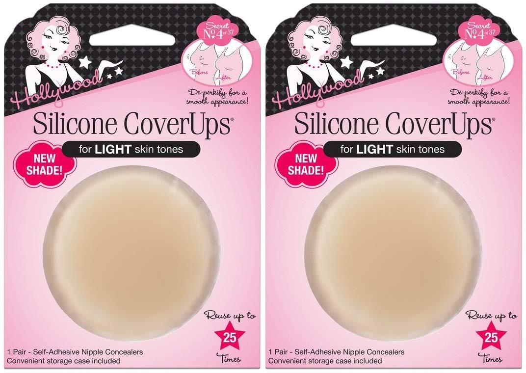 Hollywood Fashion Secrets Silicone CoverUps, for Light Skin Tones (2 Pairs) by Hollywood Fashion Secrets