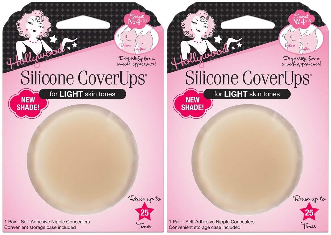 Hollywood Fashion Secrets Silicone CoverUps, for Light Skin Tones (2 Pairs)