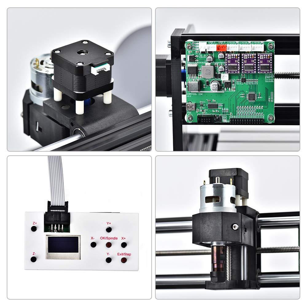 PVC 3018Pro-M 15W Acryl PCB Holz TOPQSC CNC 3018 Pro laser engraving machine,CNC-Maschine-Kit Upgrade-Version CNC 3018 Pro GRBL Steuerung Router Kit Holz Router Graveur 3-Achsen-CNC-Kunststoff