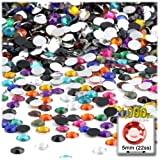 The Crafts Outlet 1,000pc Rhinestones Round 5mm - 21ss Jewel Tone Assortment