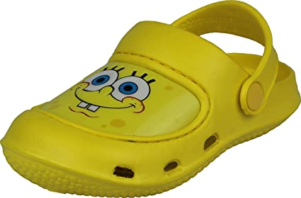d9d35908d7cd Image Unavailable. Image not available for. Color  Spongebob Squarepants  Yellow Toddler Boys Clogs Shoes 7 8