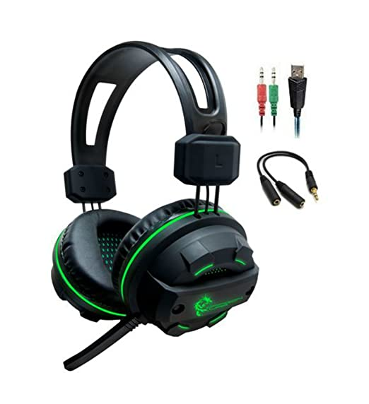 Amazon.com: Dragonwar Revan Wired Professional Gaming Headset Headphone with Mic, 3.5 mm for PC, Xbox One Controller: Computers & Accessories