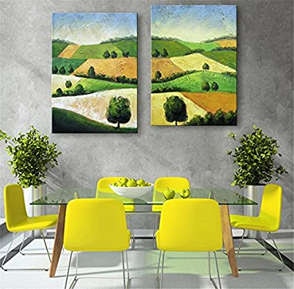 2 PCS Creative The Mountain Scenery Decorative Painting Giclee ...