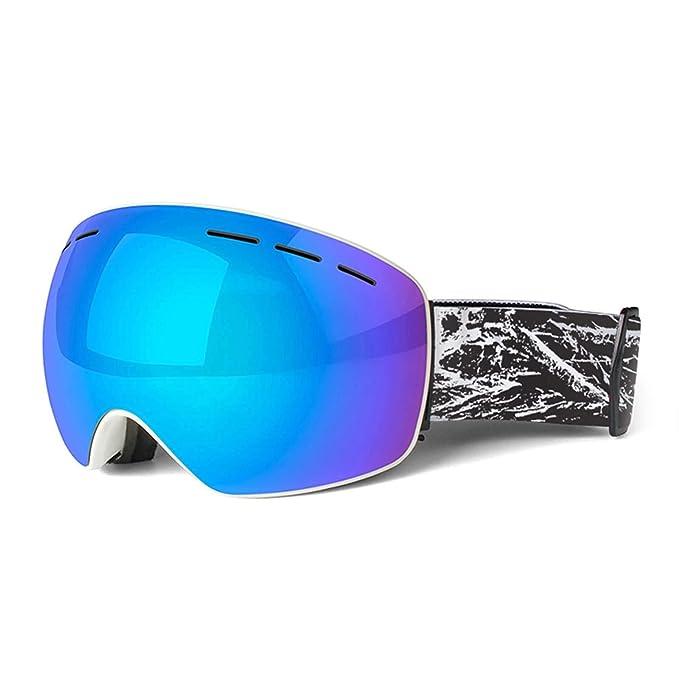 Beydodo Gafas Deportivas Unisex Gafas de Esqui Gafas Deportivas Gafas Protectoras de Seguridad Gafas Protectoras Viento Azul Blanco: Amazon.es: Ropa y ...