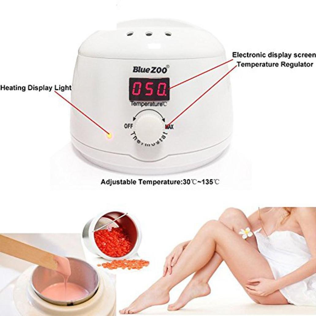 YJYdada Digital Display Wax Warmer 110V, Hair Removal Hot Wax Warmer Heater Machine Pot Depilatory