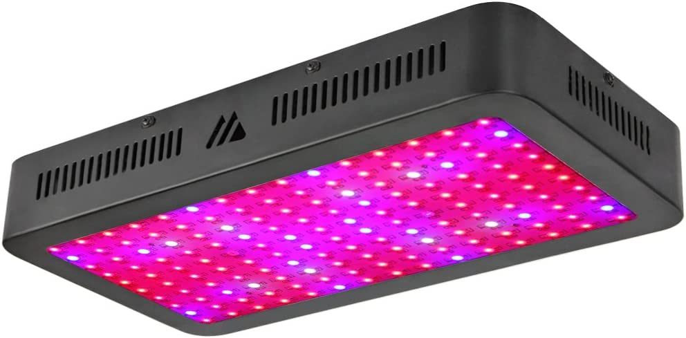 Dimgogo 1500W Triple Chips Led Light Full Spectrum with UV and IR for for Greenhouse and Indoor Plants Growing and Flowering, Black