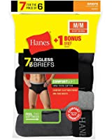Hanes Men's Mid Rise Brief with Comfort Flex Waistband 7-Pack (Includes 1 Free Bonus Brief), Assorted, XL