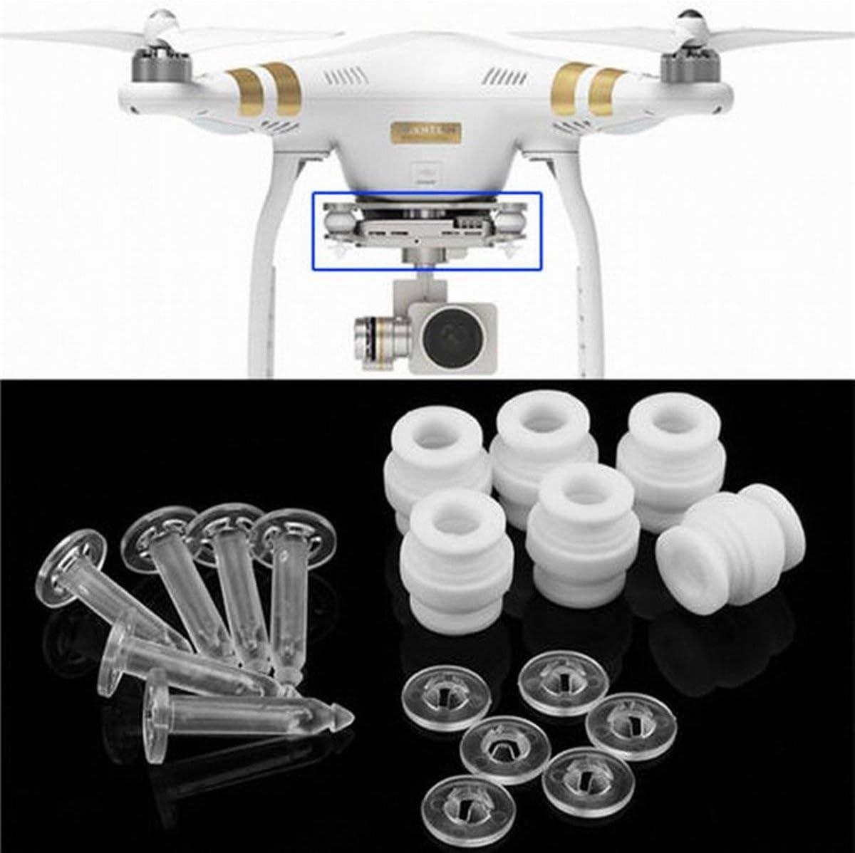 Cosye Kit di perni antisfondamento e perni antigoccia ammortizzatori con Giunto cardanico per DJI Phantom 3 Standard Professional Advanced