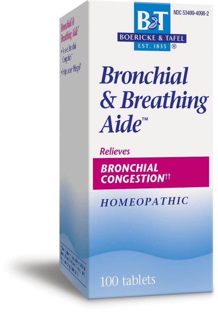 Boericke and Tafel, Bronchial and Breathing Aide 100 Tablets. Pack of 1