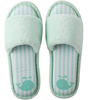 Amazoncom Cattior Womens Furry Open Toe Slippers House Slippers