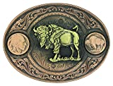 Buffalo Indian Head Nickel Miner's Belt Buckle with Buffalo (4050BLB-941L)