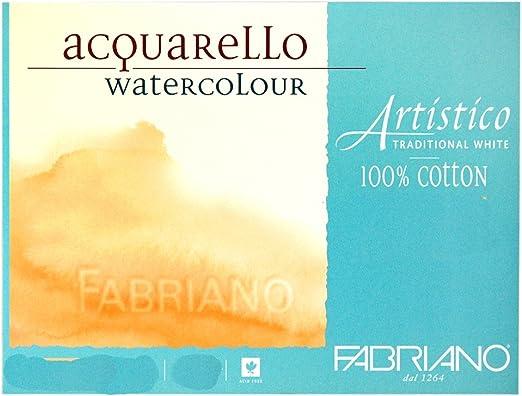 Papel Acuarela FABRIANO ArtisticoTraditional White Grano Fino 300g ...