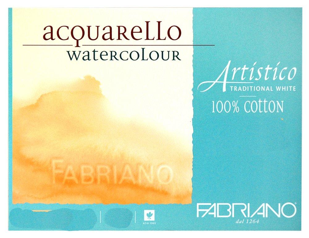 Fabriano Artistico Watercolor Paper - 140 lb. Cold Press Roll 55 x 10 Yards - Traditional White''