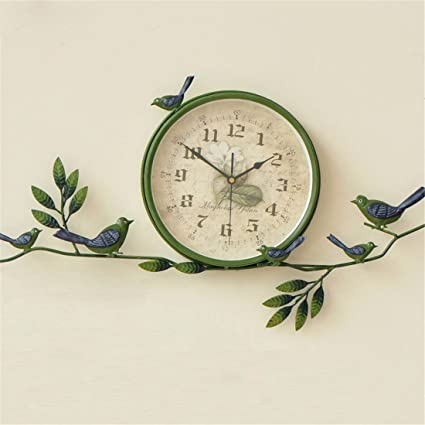 wall clock werlm creative bedroom simple lovely living room mute living room bedroom clock decorative 10 - Bedroom Clock