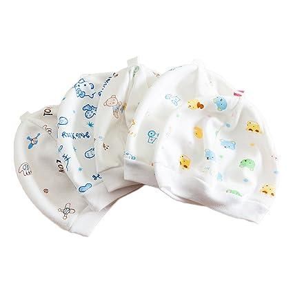 Baby gorros Cute Warm Soft Blend algodón dibujos animados recién ...